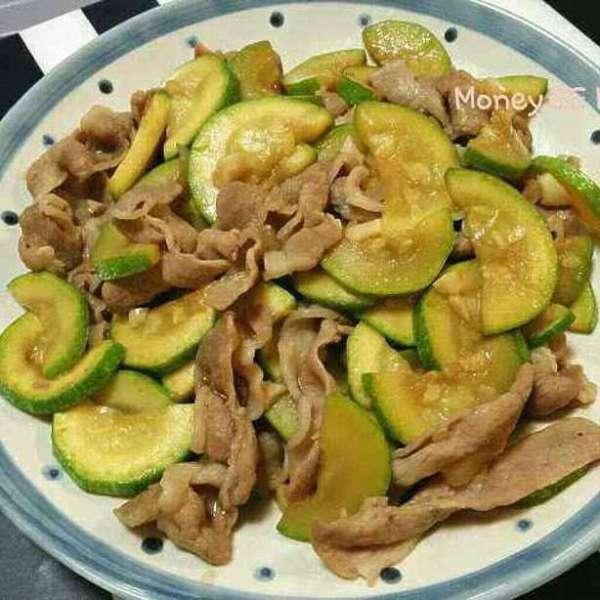 翠肉瓜炒白豚肉片