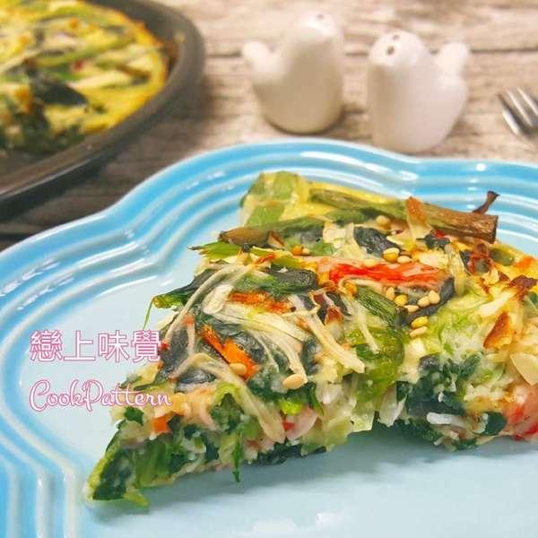 菠菜蟹柳蛋批
