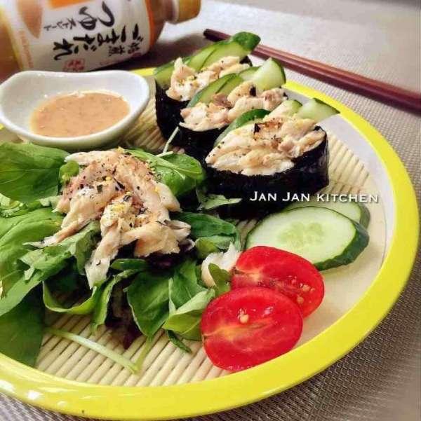 輕盈麻醬鯖魚壽司沙律