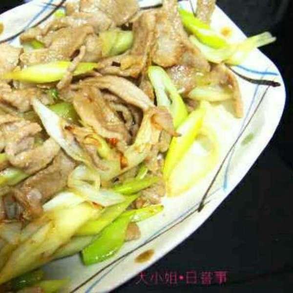 京蔥爆豬頸肉