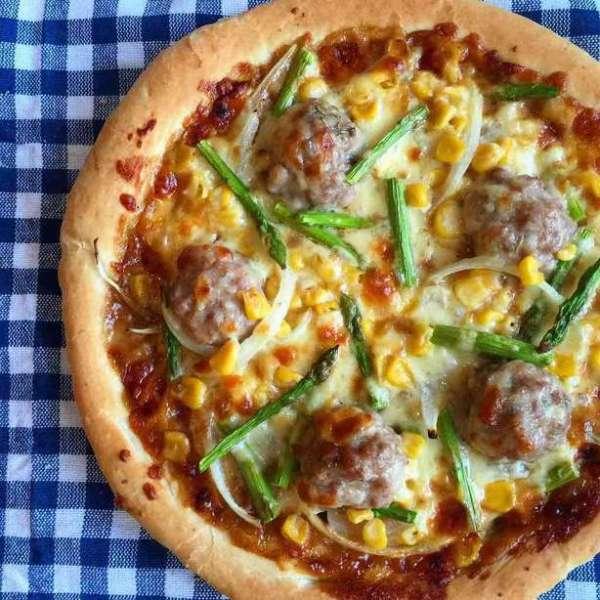 和風芝士肉丸露荀粟米洋蔥Pizza