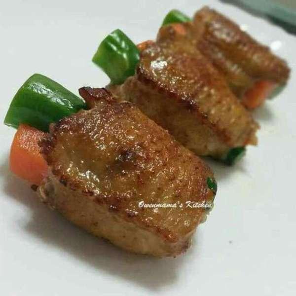 蔬菜釀雞翼