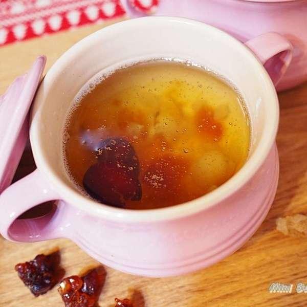 雙雪冰糖紅棗燉桃膠