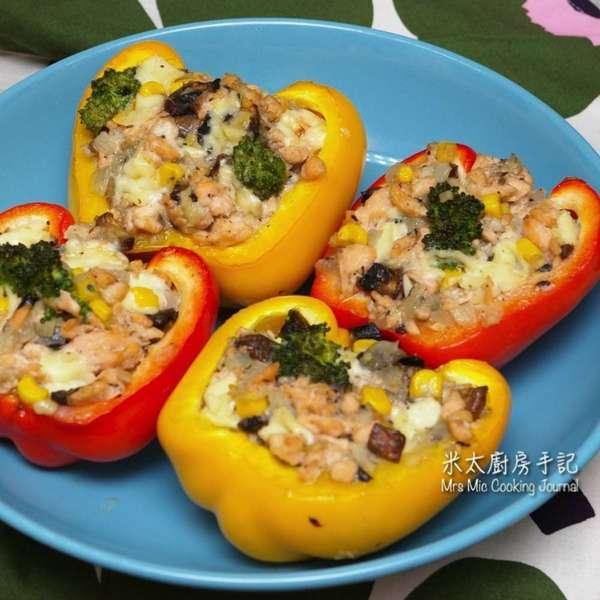 三文魚釀彩椒