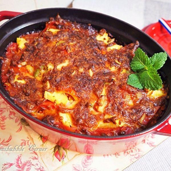 鮮茄焗豬扒飯