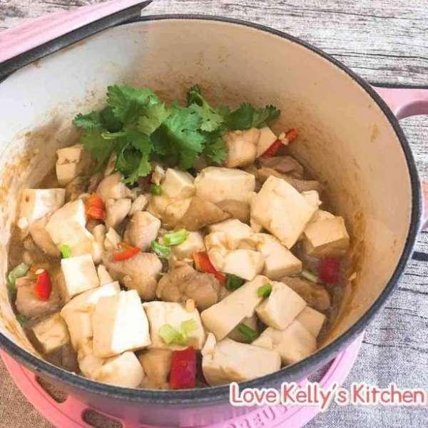 咸魚雞粒豆腐煲