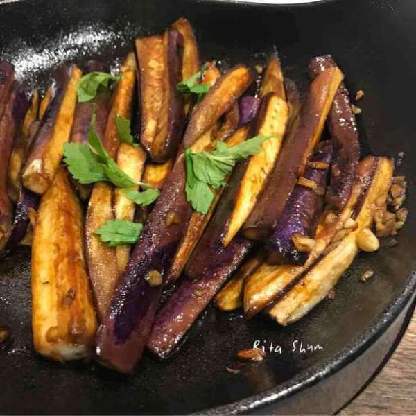 鐵鍋醬油茄子