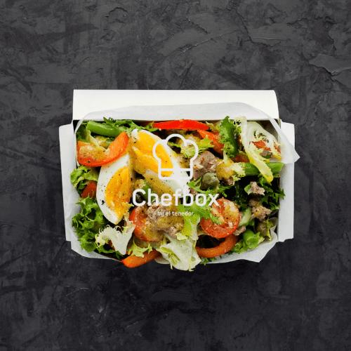 turkey salad in a box.