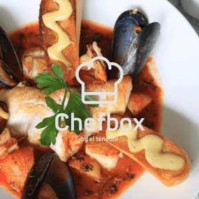 Seafood soup with alioli croutons.