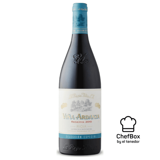 Bottle of wine from La Rioja Alta.