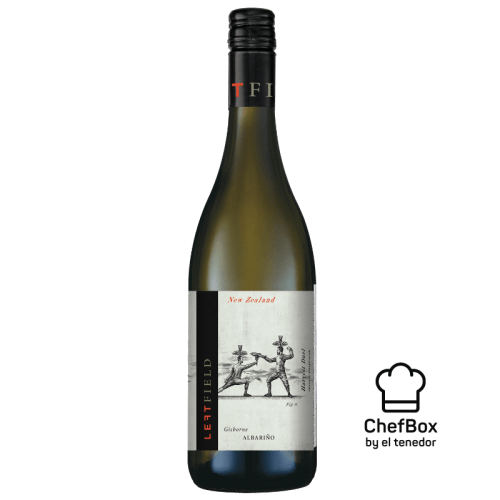 Bottle of New Zealand Albarino wine.