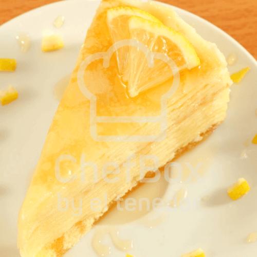 Lemon crepe cake.