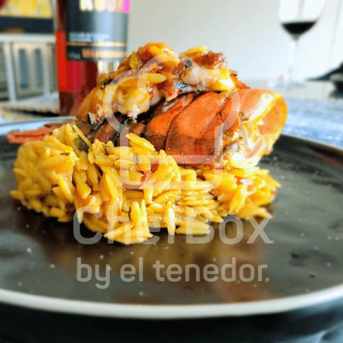 Orzo paella style with orzo.