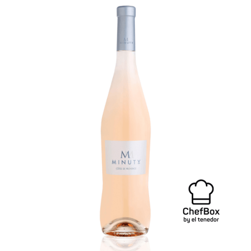 Bottle of rose wine from provence.
