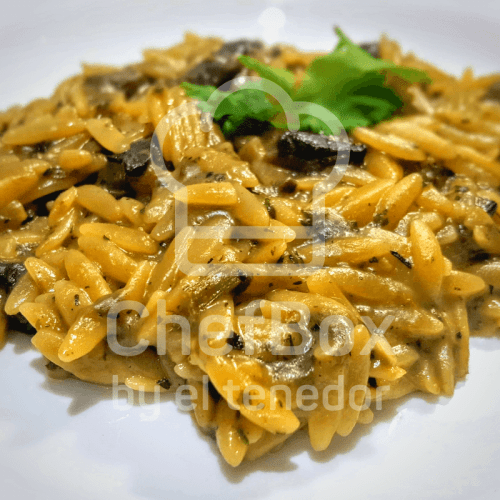 Orzo risotto with mushrooms