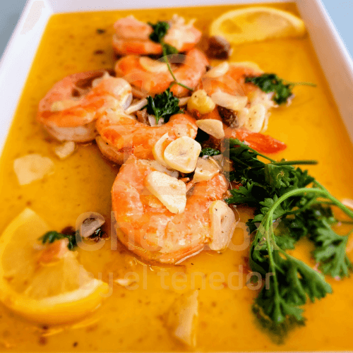 Shrimps cooked in a traditional catalan way.