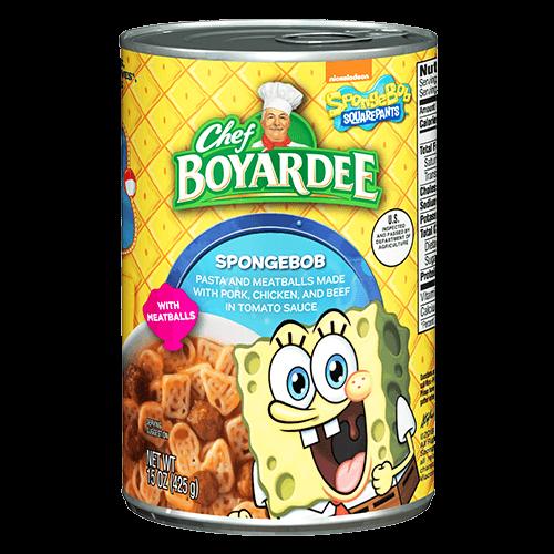 spongebob pasta meatballs chef