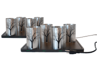 Metal Candle Holder Tree Design, set of 8 - Chef Charger