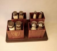Wooden Salt and Pepper Shaker Holder, set of 8 - Chef Charger