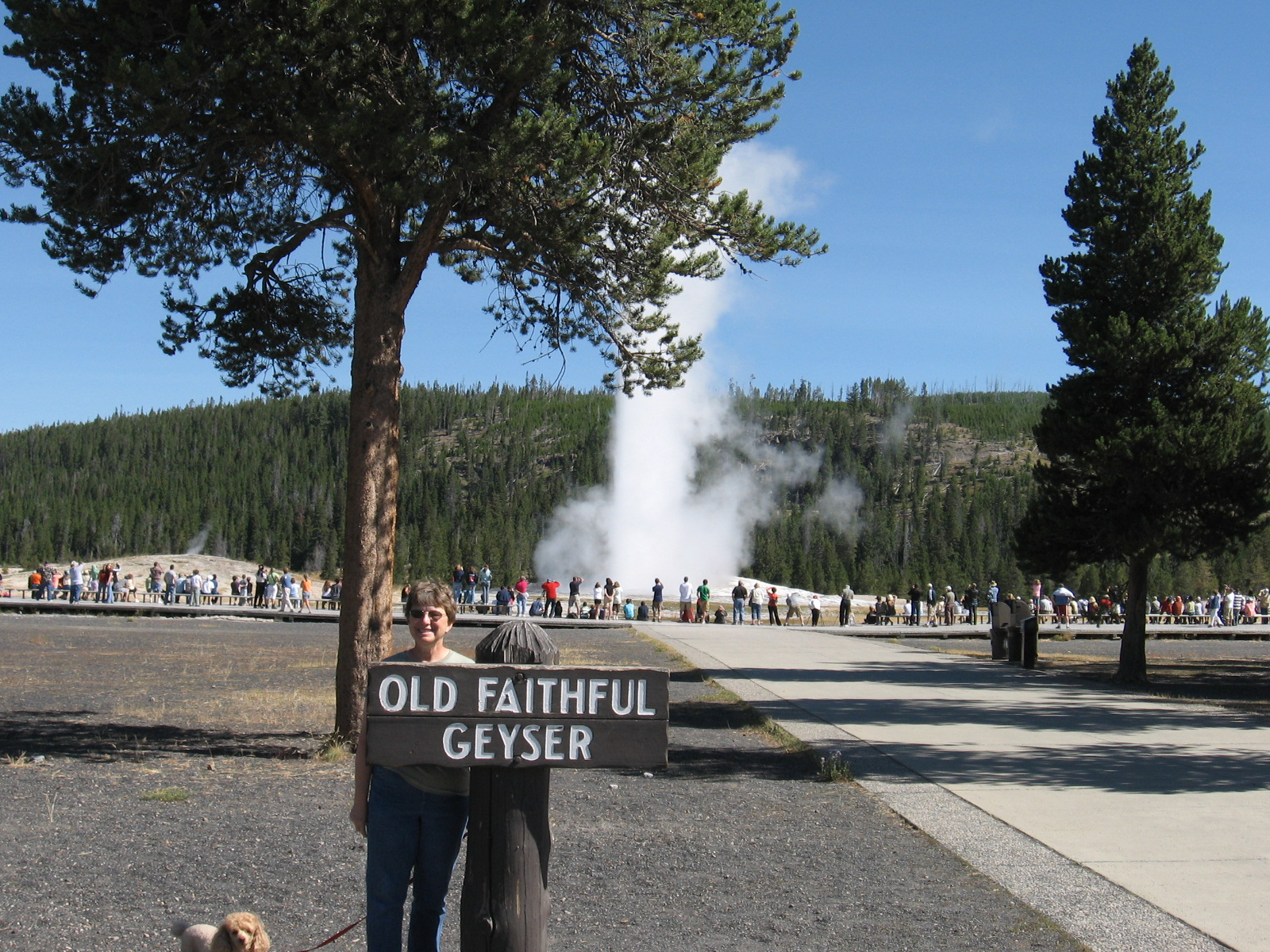 Cheryl at Old Faithful