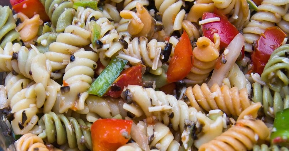 Recette facile de salade de ptes aux trois couleurs