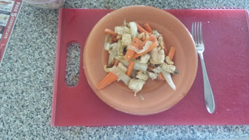 Pan Roasted Herbed Chicken Breast with Glazed Carrots and Endives