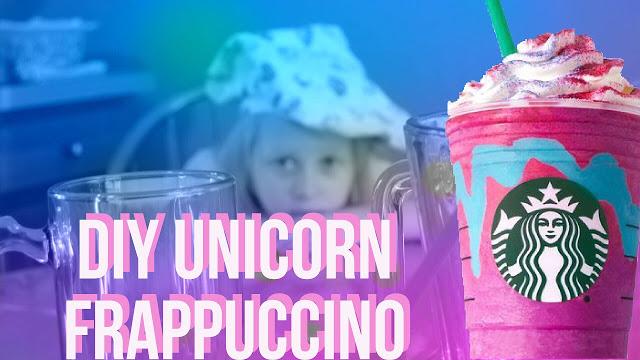DIY Unicorn Frappuccino
