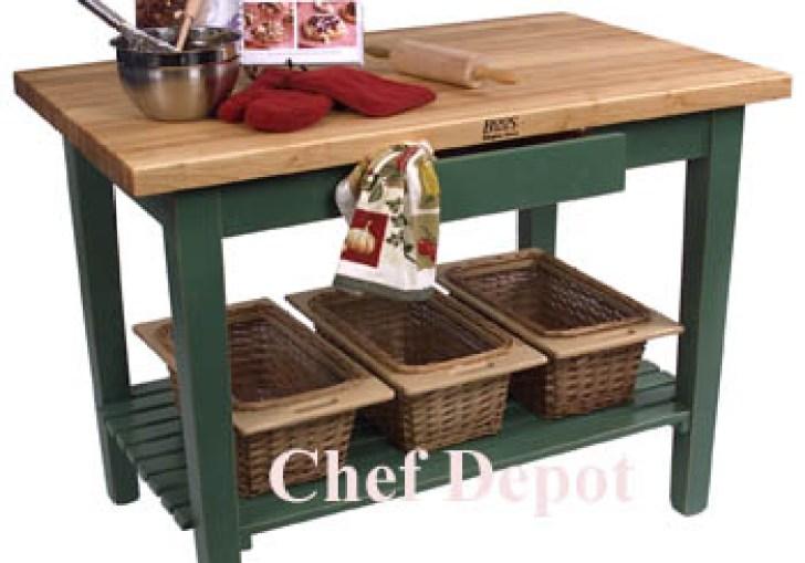 Kitchen Butcher Block Work Table