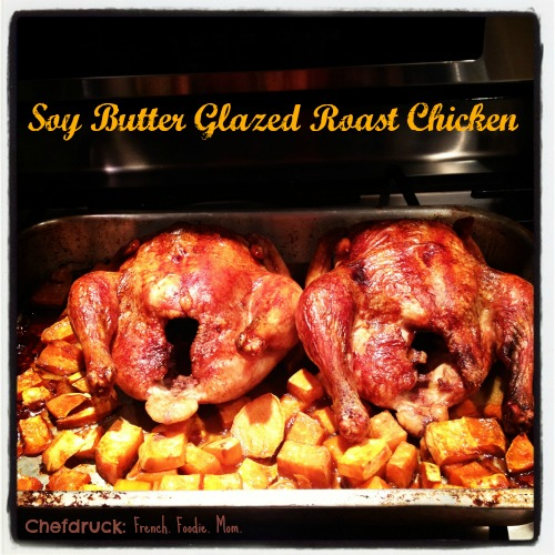 Soy Butter Glazed Roast Chicken a Quick and Easy