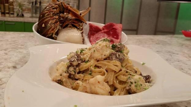 Fetuccini mar y tierra
