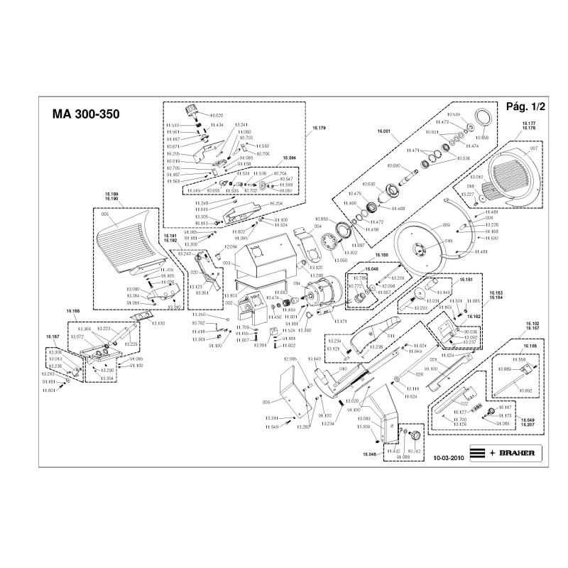Cuchilla Circular 292-57-3 Braher MAT-292 MG-300 MA-300