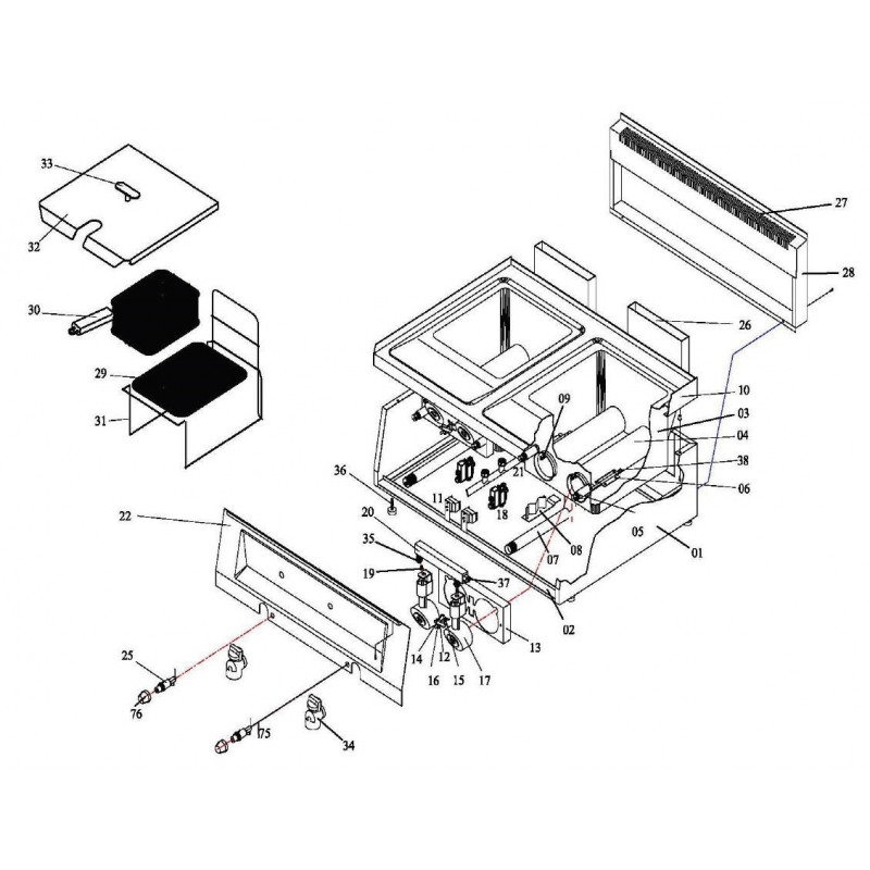 Termostato de gas tipo serie 630 Eurosit T máx 190°C 110