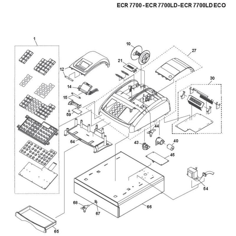Power supply CT-63E Olivetti ECR-7700 AVGR094149P SAMPOS