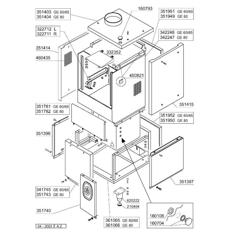 Solenoid valve brass 2-ways 230 VAC connection 3/4