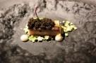 Restaurante Santceloni a Madrid in Spagna. Filetto di Sgombro Cavolfiore e Caviale. Foto di Giorgio Dracopulos Critico Gastronomico