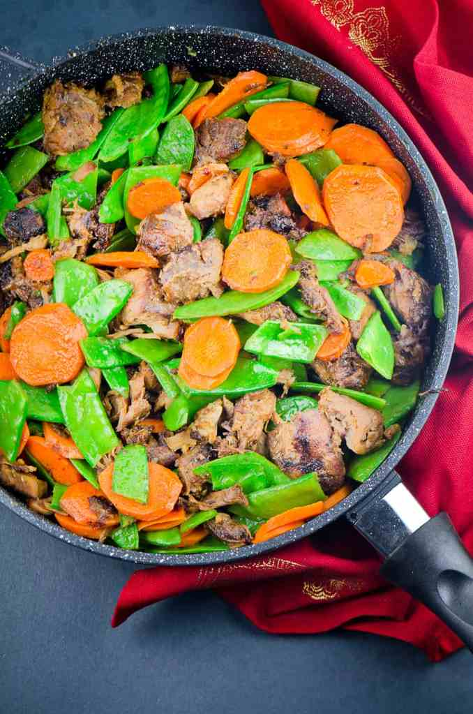 BEEF STIR FRY RECIPE WITH SNOW PEAS AND CARROTS | Chefjar