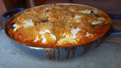 Gratin of Garden Tomatoes, Eggplant, Zucchini & Mozzarella di Bufala