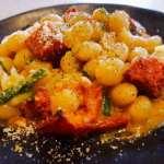 Controne Beans with Roasted Plum Tomatoes, 'nduja, Garden Herbs, Pecorino Cheese & Black Pepper Hamptons Cooking