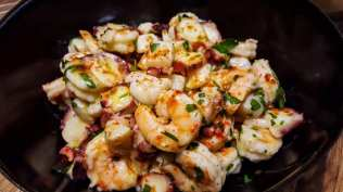 Octopus, Shrimp & Local Bay Scallop Salad Hamptons Cooking