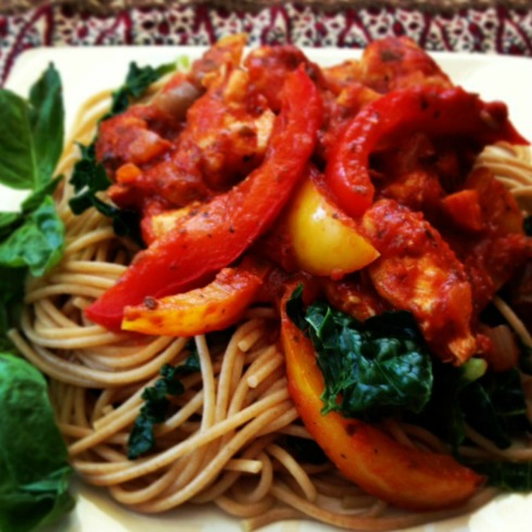 FC Chicken and pepper pasta from Chef Kirsten, Mesa de Vida