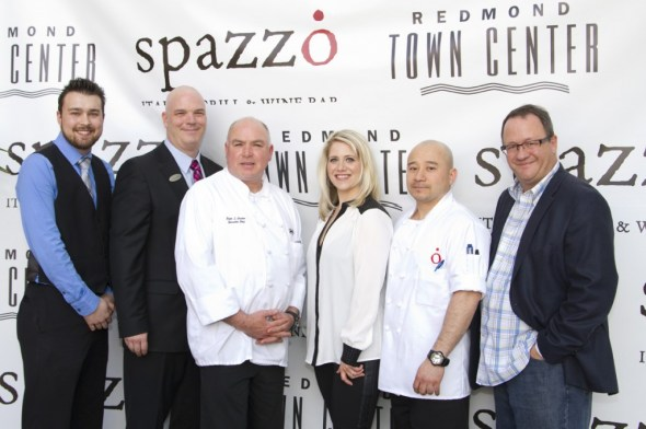 With the talented crew of Spazzo Italian Grill and Wine Bar - Photo: Danielle Bortone-Holt Location: Spazzo Italian Grill and Wine Bar