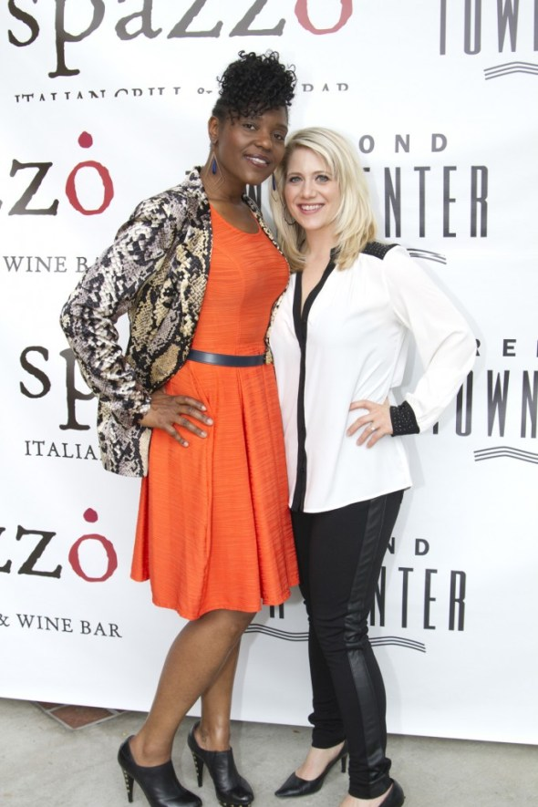 Stylist Shalika Martin and I. Photo: Danielle Bortone-Holt Location Spazzo Italian Grill and Wine Bar