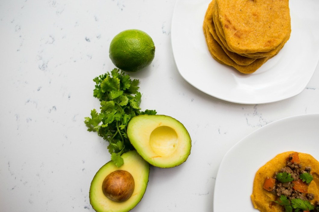 Audra Mulkern for Chef Kirsten Helle Plantain Tortilla Healthy Tacos