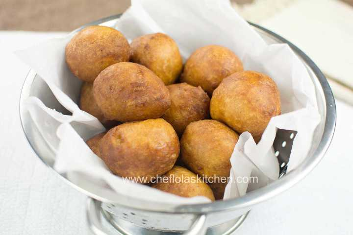 Nigerian Puff Puff recipe made with onions and Pepper