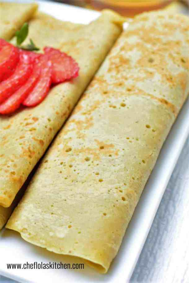 Rolled Plantain pancakes