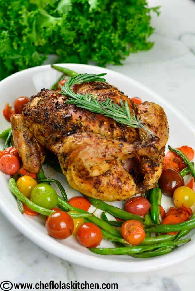 spiced whole roasted Chicken