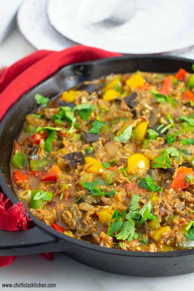 Flavorful and delicious Eggplant stew