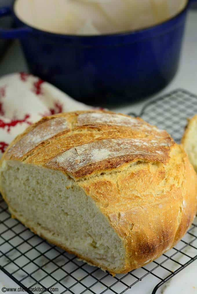 4 - Ingredients No Knead Artisan Bread