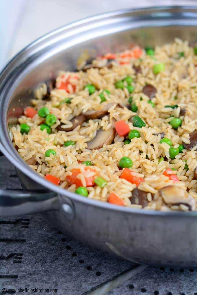 Rustic and elegant Mushroom Rice - Ready in minutes!