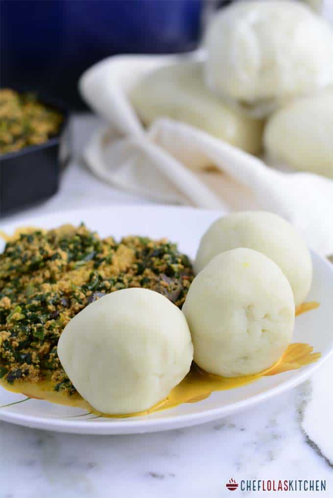 Pounded Yam is a staple in many West African homes, but it is not usually eaten by itself, it is often paired with many delicious African soups, and stews.